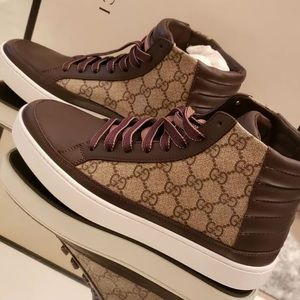 Gucci common high top gg sneakers